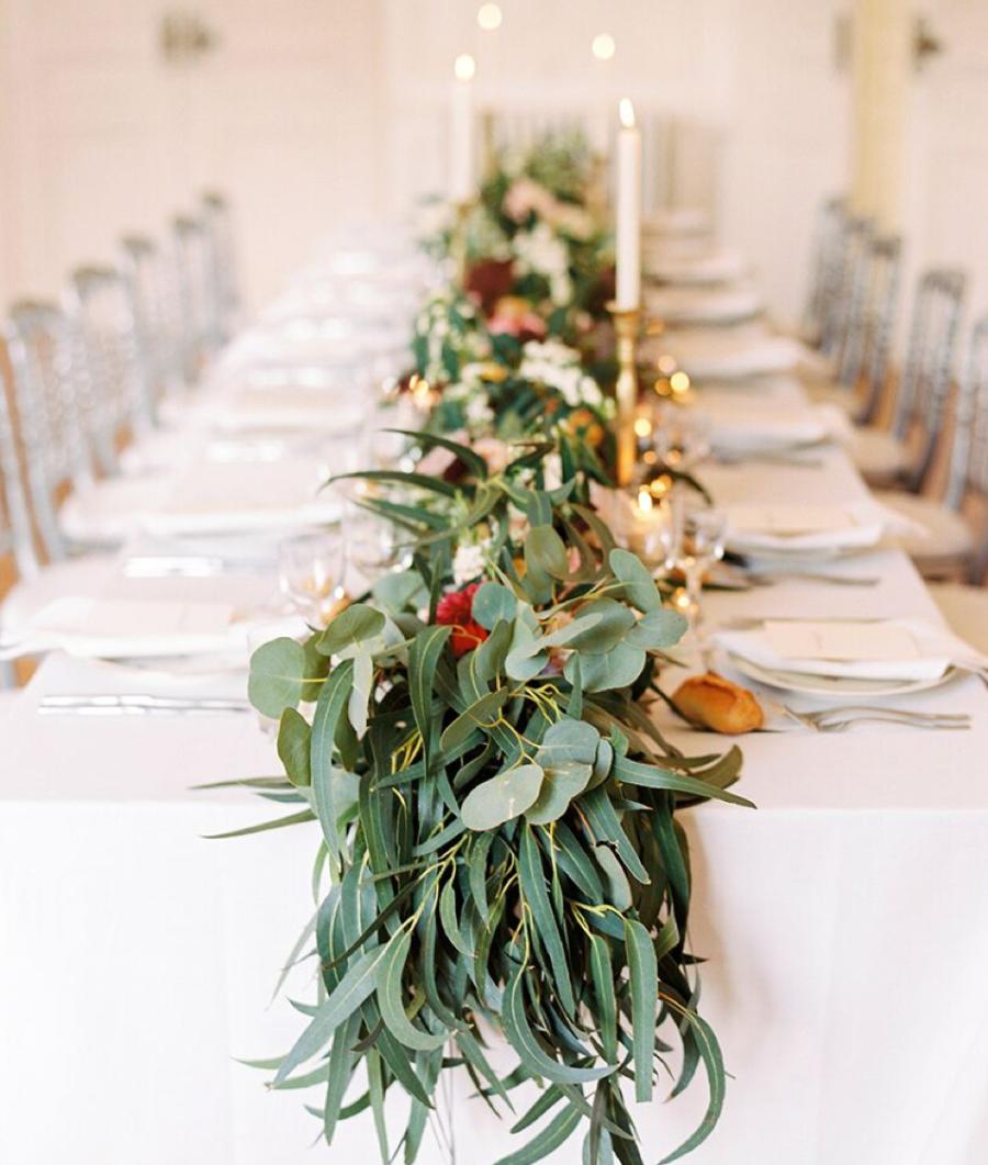 Guirlande centre de table mariage