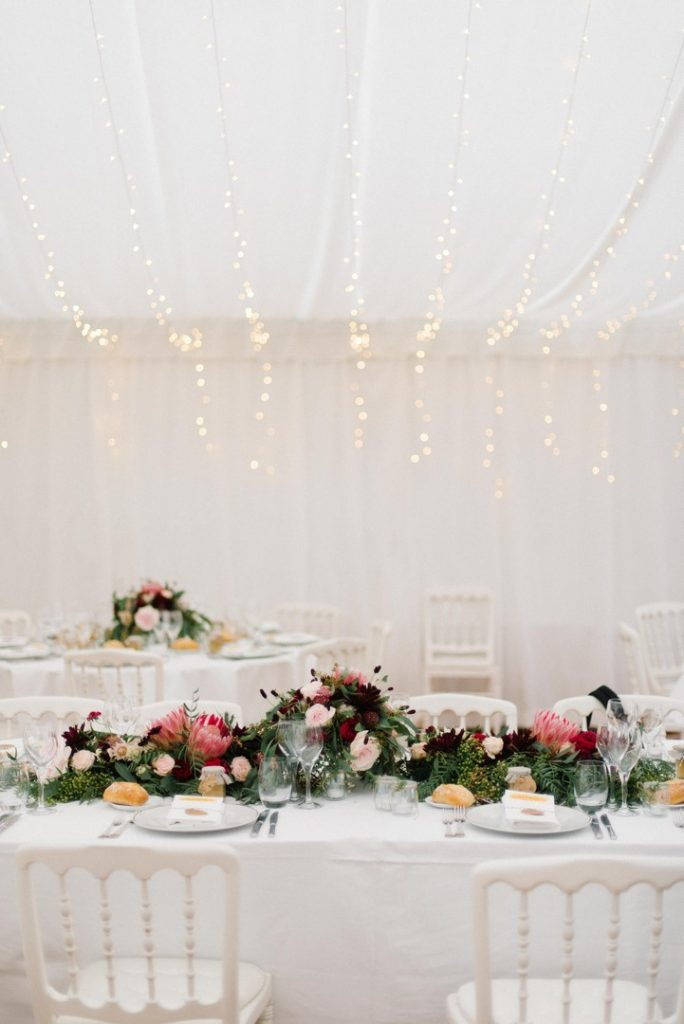 décoration florale mariage tente