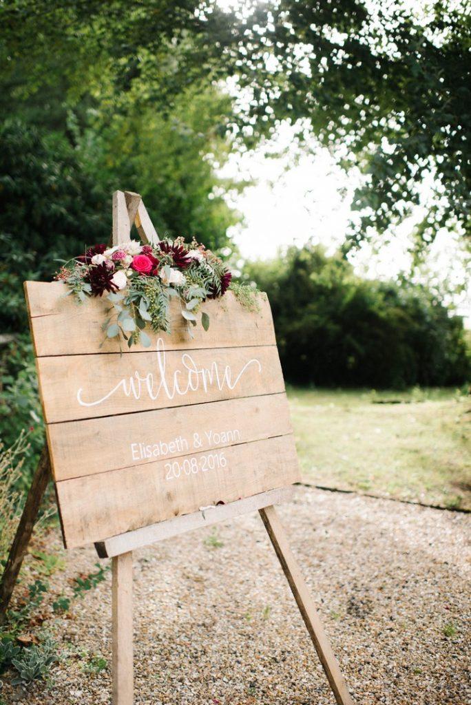 fleurs panneau welcome