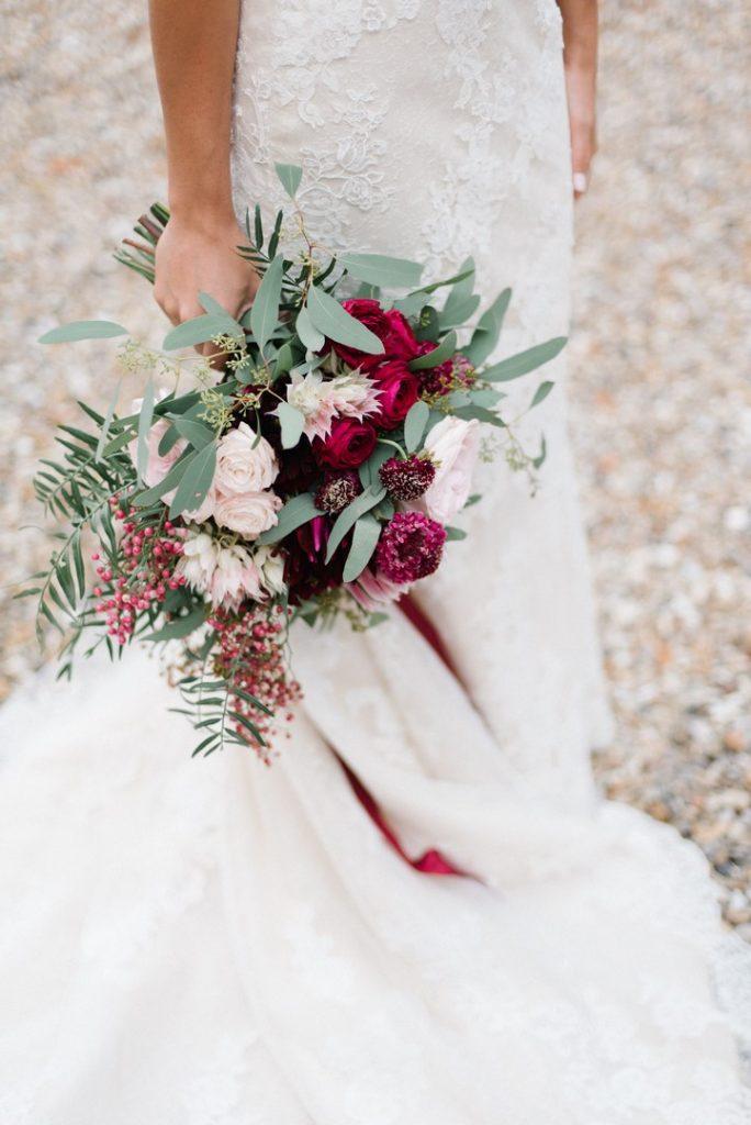 bouquet mariée rouge