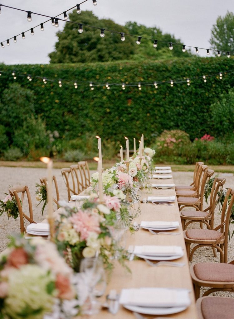 décoration florale table mariage