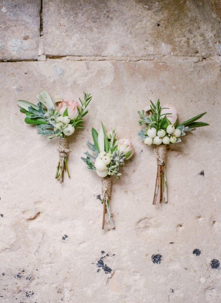 boutonniere fleurs mariage
