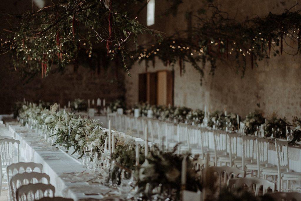 décoration florale mariage grange